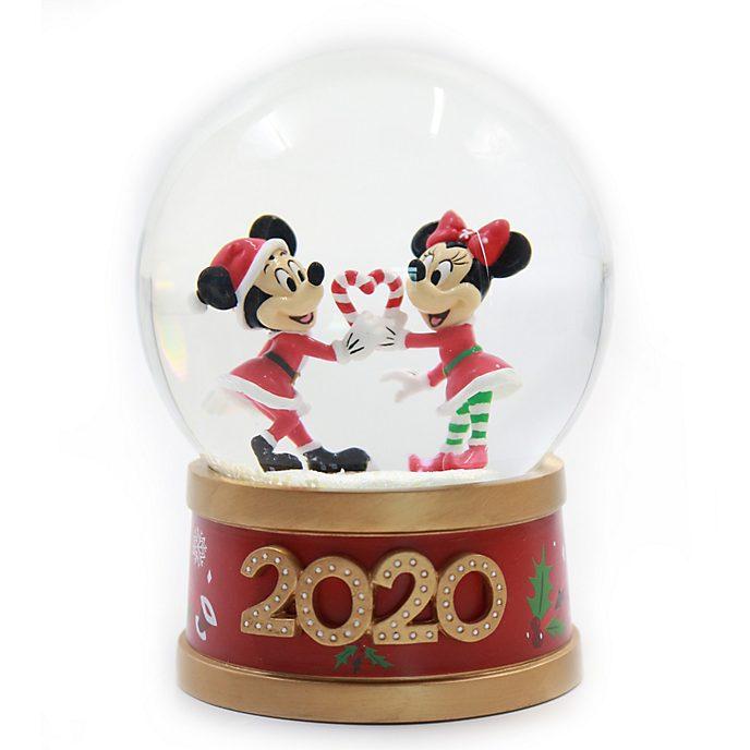 Disney Store Mickey and Minnie Holiday Cheer Snow Globe