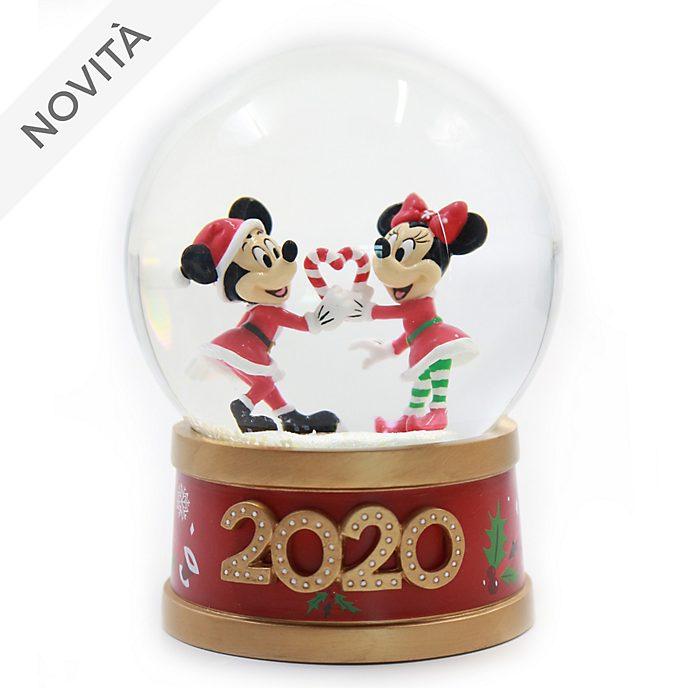 Palla di neve Topolino e Minni Holiday Cheer Disney Store