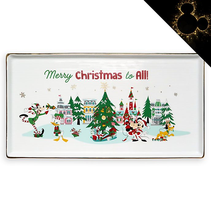 Disney Store Mickey and Friends Holiday Cheer Serving Dish