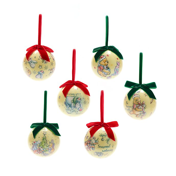 Disney Store Winnie the Pooh Baubles