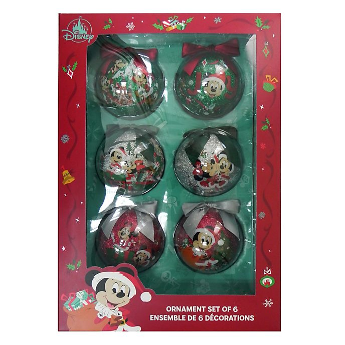Disney Store Mickey and Friends Holiday Cheer Baubles