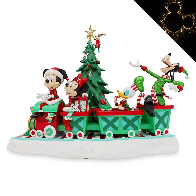 Disney Store Mickey and Friends Musical Holiday Cheer Figurine