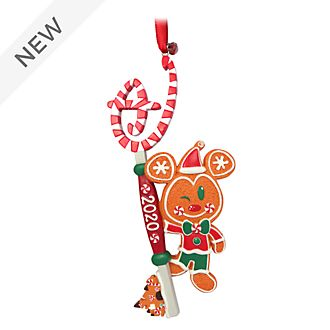 Disney Store Mickey Mouse Gingerbread Man Hanging Ornament