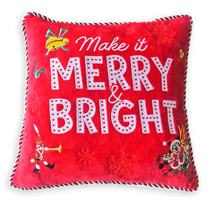 Disney Store Mickey and Friends Holiday Cheer Cushion