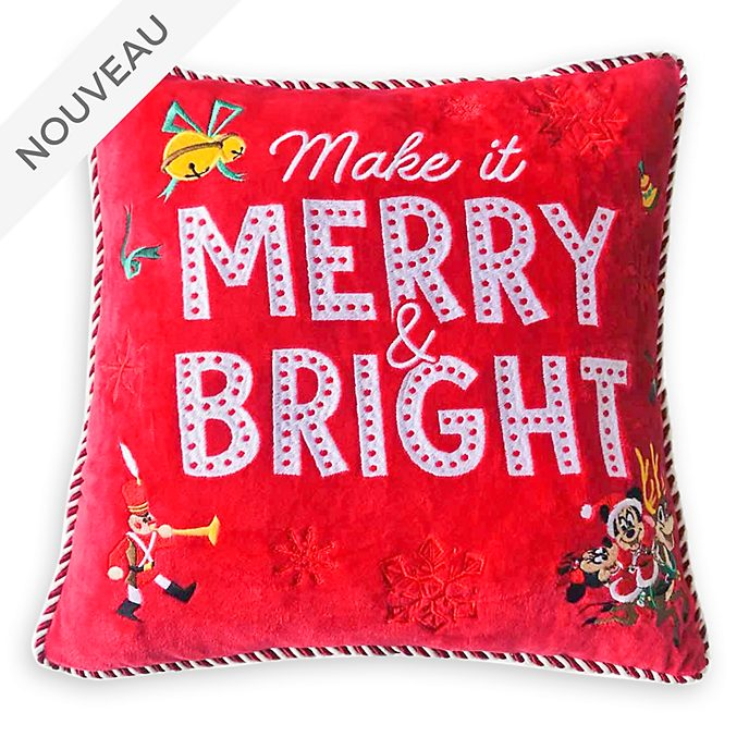 Disney Store Coussin Mickey et ses Amis, Holiday Cheer