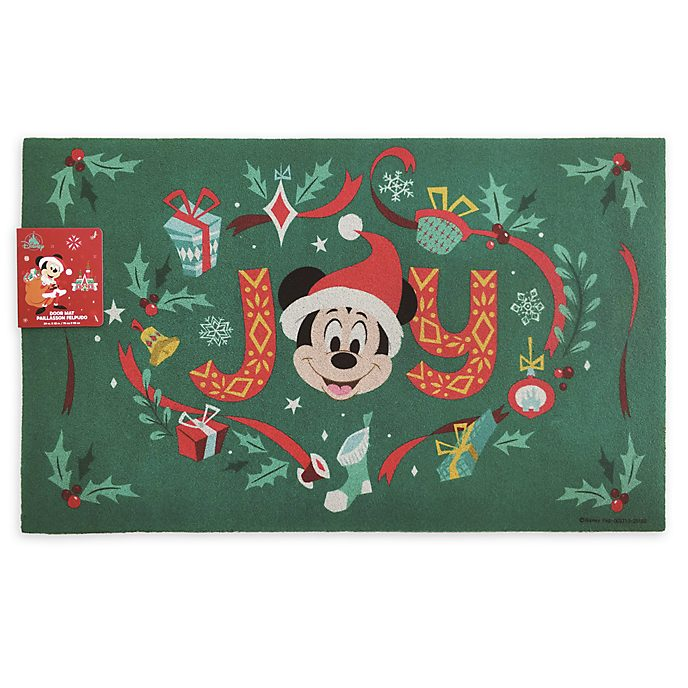 Disney Store Mickey and Minnie Holiday Cheer Door Mat