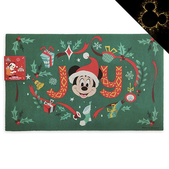 Disney Store Mickey and Minnie Holiday Cheer Door Mat
