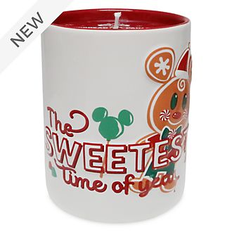 Disney Store Mickey Mouse Gingerbread Man Candle