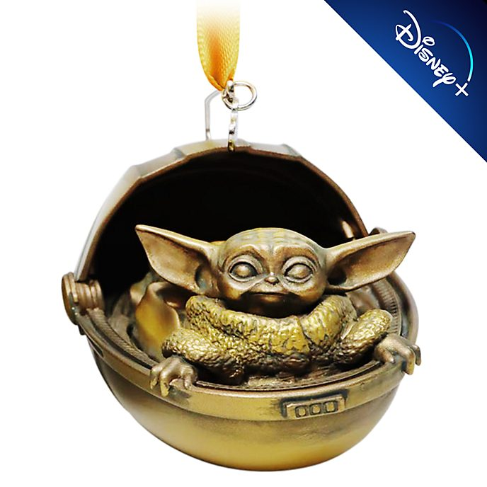 Disney Store - Star Wars - Das Kind - Bronzefarbenes Dekorationsstück zum Aufhängen
