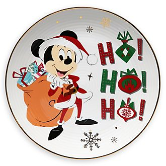 Disney Store Mickey Mouse Holiday Cheer Dessert Plate