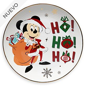 Plato de postre Mickey Mouse, Holiday Cheer, Disney Store
