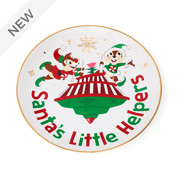 Disney Store Chip 'n' Dale Holiday Cheer Dessert Plate