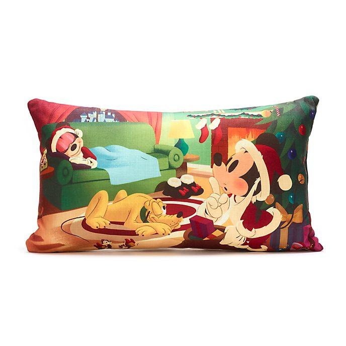 Cojín navideño Mickey, Minnie y Pluto, Disney Store