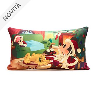 Cuscino natalizio Topolino, Minni e Pluto Disney Store