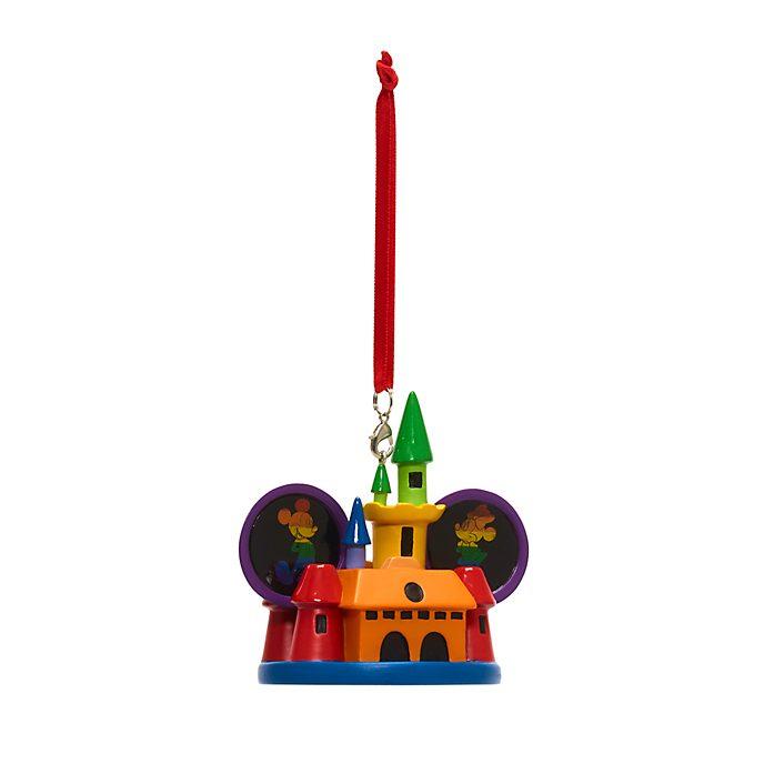 Decorazione natalizia da appendere Topolino e Minni castello arcobaleno Disney Store