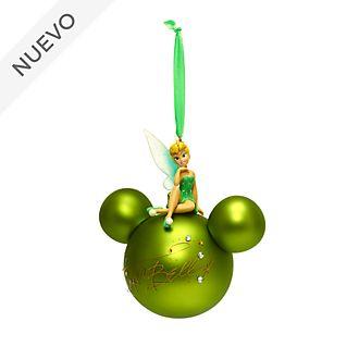 Adorno colgante Campanilla sobre icono de Mickey, Disney Store