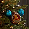 Walt Disney World Winnie the Pooh and Owl Mickey Icon Hanging Ornament