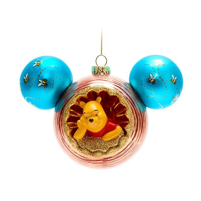 Walt Disney World - Winnie Puuh und Eule auf einer Kugel in Form des Micky Symbols - Dekorationsstück zum Aufhängen