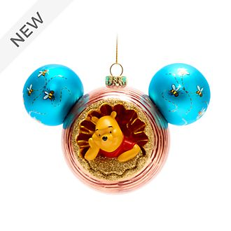 Walt Disney World Winnie the Pooh and Owl Mickey Icon Hanging Ornament