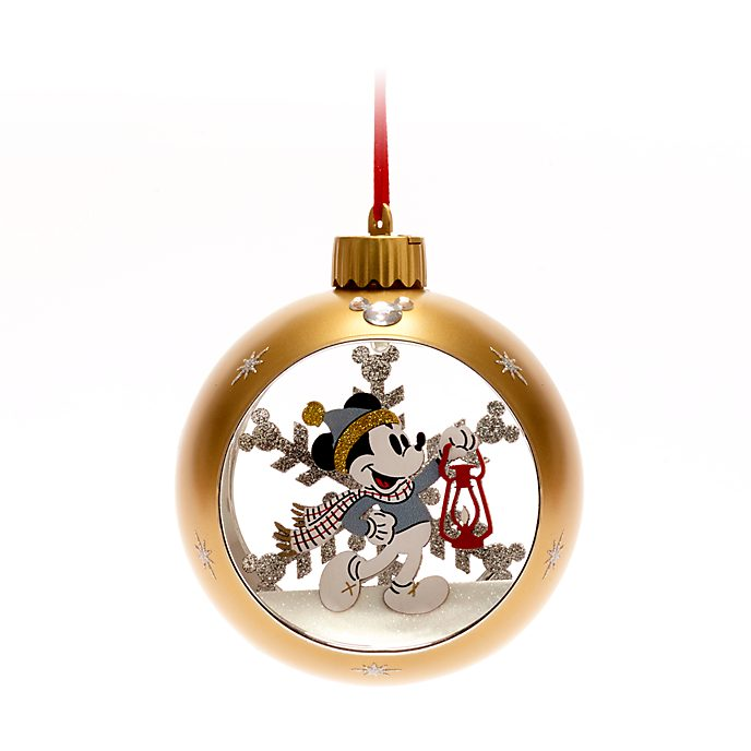 Walt Disney World - Micky Maus - Weihnachtliches Dekorationsstück zum Aufhängen mit Leuchteffekt