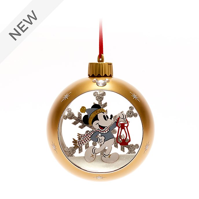 Walt Disney World Mickey Mouse Light-Up Festive Hanging Ornament