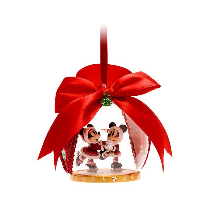 Walt Disney World - Micky und Minnie - Weihnachtliches Dekorationsstück zum Aufhängen