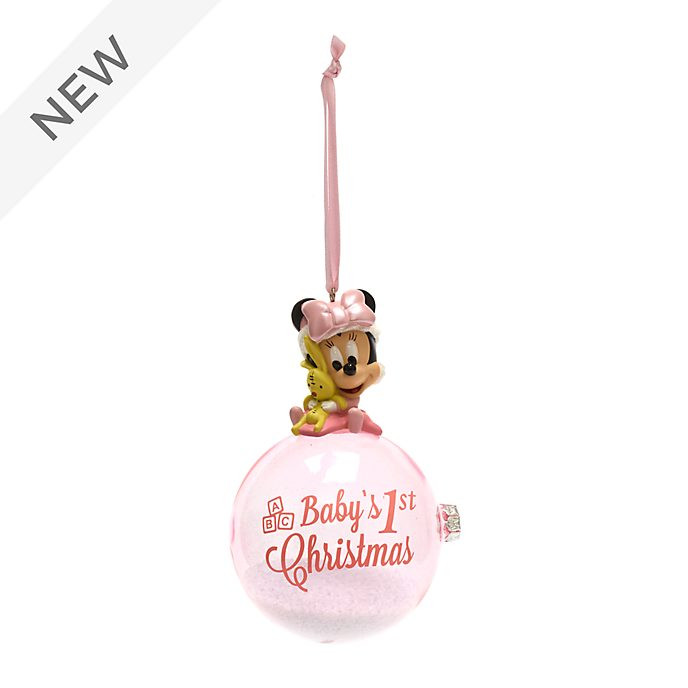 Disney Store Minnie Mouse First Christmas Hanging Ornament