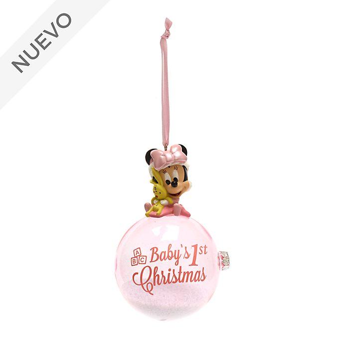Adorno colgante de primeras Navidades Minnie Mouse, Disney Store