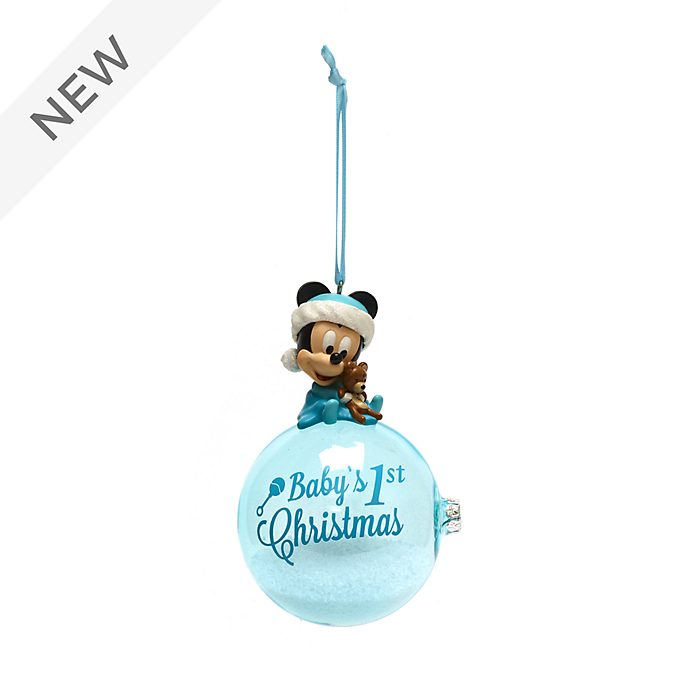 Disney Store Mickey Mouse First Christmas Hanging Ornament