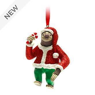 Disney Store Flash Slothmore Festive Hanging Ornament