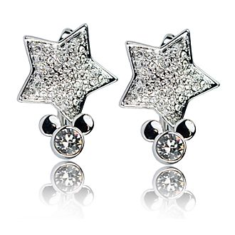 Arribas Mickey Mouse Star Drop Earrings