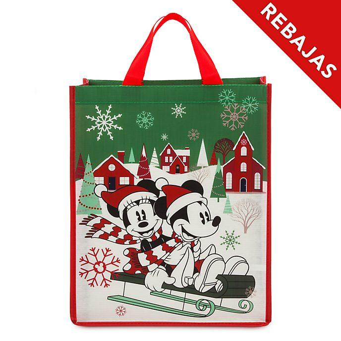 Bolsa reutilizable estándar, Mickey y Minnie, Holiday Cheer, Disney Store