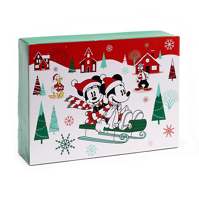 Scatola regalo grande Holiday Cheer Topolino e i oi amici Disney Store