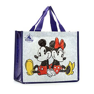 Disney Store Petit sac de shopping réutilisable Mickey et Minnie
