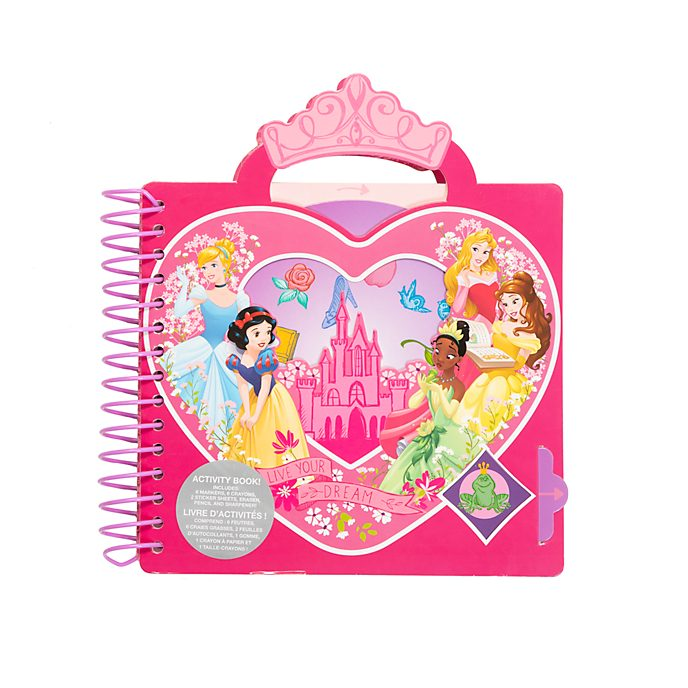 Disney Store Livre d'activités à spirales Princesses Disney