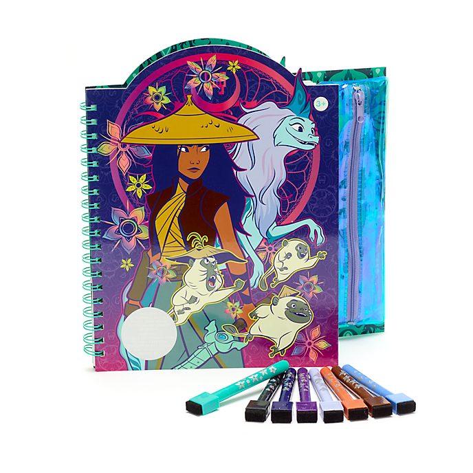 Disney Store Raya and the Last Dragon Erasable Art Book
