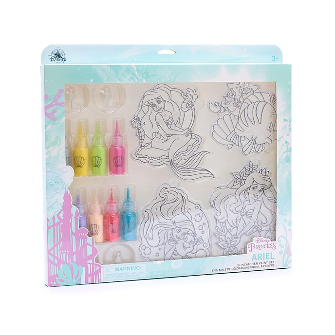 Disney Store The Little Mermaid Suncatcher Paint Set