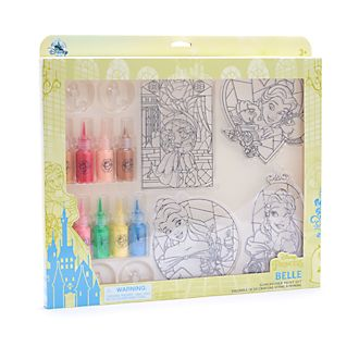 Disney Store Beauty and the Beast Suncatcher Paint Set