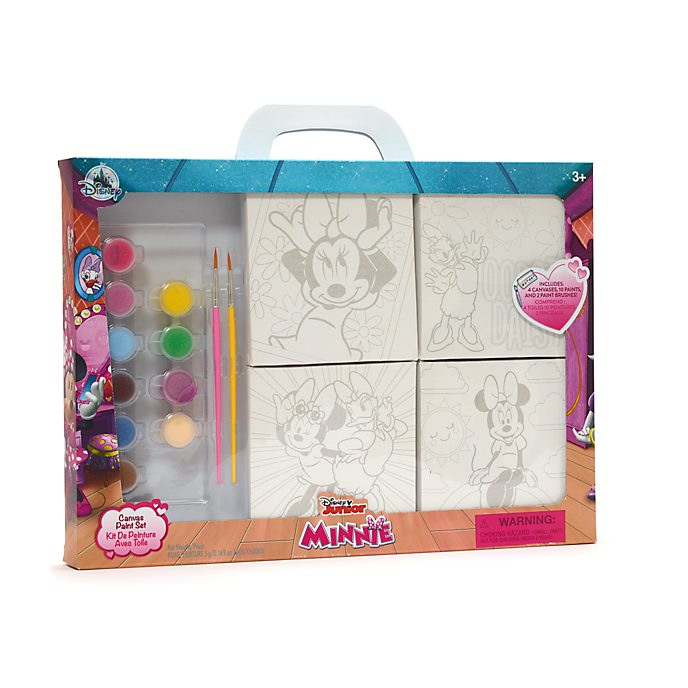 Disney Store Minnie and Daisy Canvas Paint Set