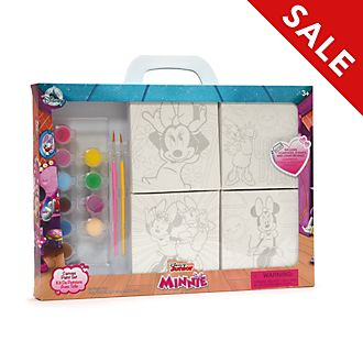 Disney Store Minnie and Daisy Canvas Paint Set