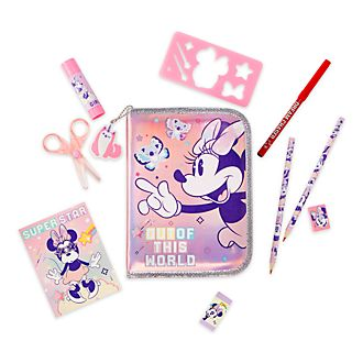 Disney Store Minnie Mouse Mystical Zip-Up Stationery Kit