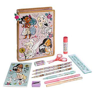 Estuche papelería con cremallera colección Disney Animators, Disney Store