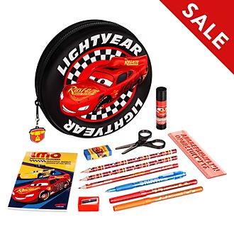 Disney Store Lightning McQueen Zip-Up Stationery Kit