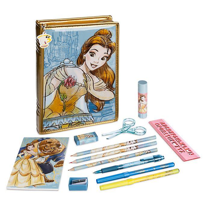 Disney Store Kit de fournitures Belle zippé, La Belle et la Bête