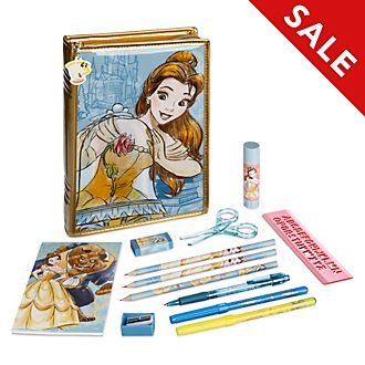 Disney Store Belle Zip-Up Stationery Kit, Beauty and the Beast