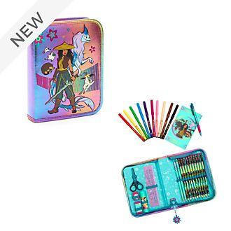 Disney Store Raya and the Last Dragon Zip-Up Stationery Kit