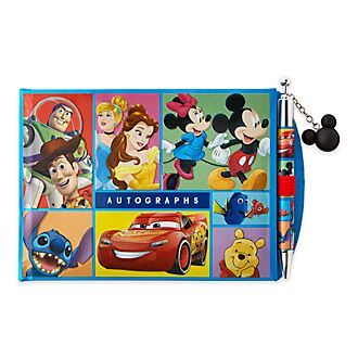 Disney Store World of Disney Autograph Book and Pen Set