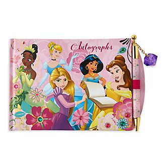 Set libro de autógrafos y bolígrafo princesas Disney, Disney Store