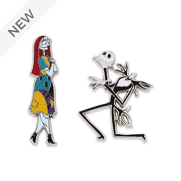 Disney Store Jack Skellington and Sally Pin Set