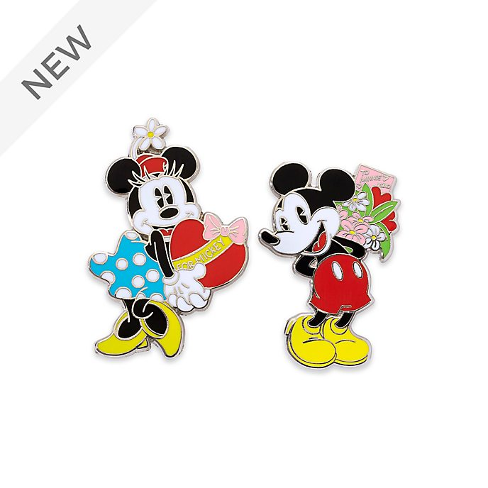 Disney Store Mickey and Minnie Pin Set